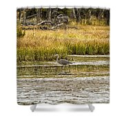 Heron On Snake River No. 2 - Grand Tetons Shower Curtain