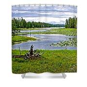 Heron Pond In Grand Teton National Park-wyoming   Shower Curtain