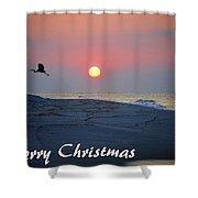 Heron Rising Shower Curtain