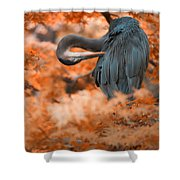 Heron Wonderland V3 Shower Curtain