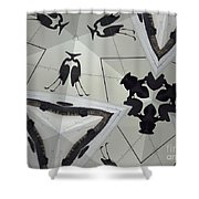 Herons And Gators Shower Curtain