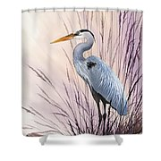 Herons Driftwood Home Shower Curtain