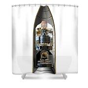 Herschel And Planck Launch Configuration Shower Curtain
