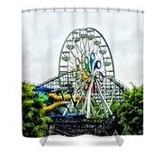 Hershey Park Ferris Wheel Shower Curtain
