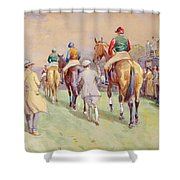 Hethersett Steeplechases Shower Curtain by John Atkinson