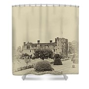 Hever Castle Yellow Plate 2 Shower Curtain