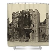 Hever Castle Yellow Plate Shower Curtain by Chris Thaxter