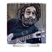 Hey Now - Blue Jerry Shower Curtain