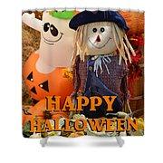 Feel Good Happy Halloween Shower Curtain