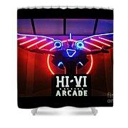 Hi-vi Arcade Shower Curtain