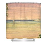 Hibiscus Cove Shower Curtain