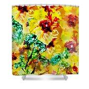 Hibiscus Impressionist Shower Curtain