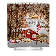 Hickory Lake Woodworks Shower Curtain