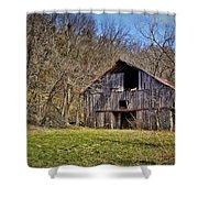 Hidden Barn Shower Curtain