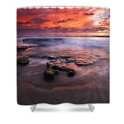 Hidden By The Tides Shower Curtain