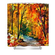 Hidden Emotions - Palette Knife Oil Painting On Canvas By Leonid Afremov Shower Curtain