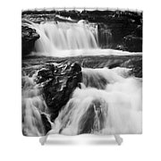 Hidden Falls Sheep River 1 Shower Curtain