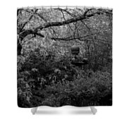 Hidden Garden In Black And White Shower Curtain