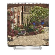 Hidden Garden Villa Di Camigliano Tuscany Shower Curtain