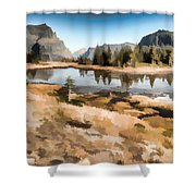Hidden Lake Trail Glacier National Park Shower Curtain