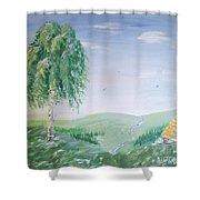 Hidden River Shower Curtain