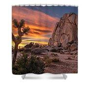 Hidden Valley Rock - Joshua Tree Shower Curtain