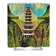 Hidden Zen Shower Curtain