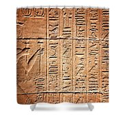Hieroglyphs In The Temple Of Kalabsha  Shower Curtain
