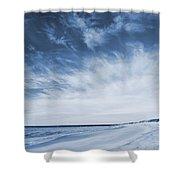 Higbee Beach Cyanotype Shower Curtain