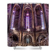 High Altar And Stained Glass Windows  Shower Curtain