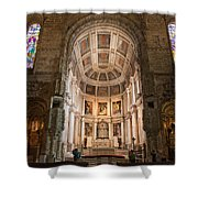 High Altar In Church Of Jeronimos Monastery Shower Curtain
