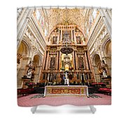 High Altar Of Cordoba Cathedral Shower Curtain