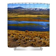 High Altitude Reflections Shower Curtain