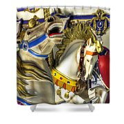 High And Boastful Neighs Shower Curtain