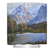 High And Mighty Shower Curtain