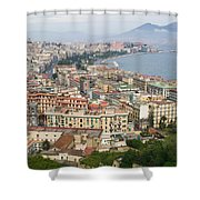 High Angle View Of A City, Naples Shower Curtain