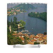High Angle View Of Houses Shower Curtain
