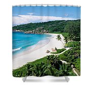 High Angle View Of The Beach, Grand Shower Curtain