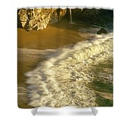 High Angle View Of Waterfall Shower Curtain