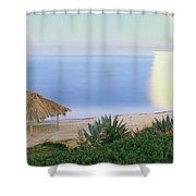 High Angle View Of Windansea Beach, La Shower Curtain