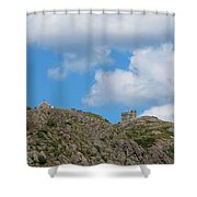 High As The Sky - Blue Sky - Cliffs Shower Curtain