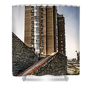 High Building In Kiev Shower Curtain