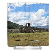 High Country Roundup The Old Days Shower Curtain