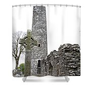 High Cross And Round Tower Monasterboice Shower Curtain