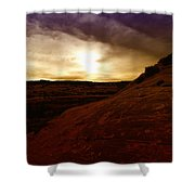 High Desert Clouds Shower Curtain