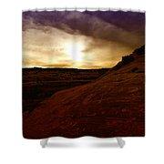 High Desert Clouds Shower Curtain