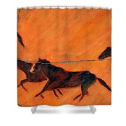 High Desert Horses - Study No. 1 Shower Curtain