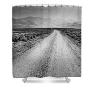 Sunbeams On The Mountains Shower Curtain