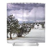 High Desert Snow Shower Curtain
