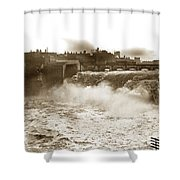 High Falls On The Genesee River Rochester New York At Flood Stage Circa 1904 Shower Curtain